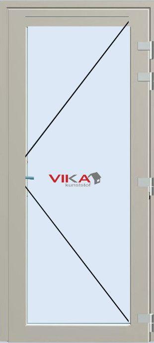 'Achterdeur compleet glas buitendraaiend' kunststof deur