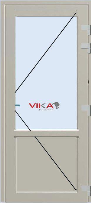 'Achterdeur met borstwering buitendraaiend' kunststof deur