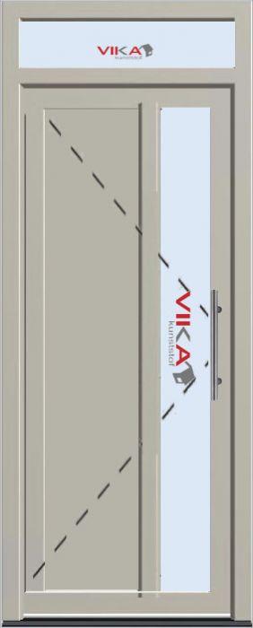 'Basis voordeur met bovenlicht' kunststof deur