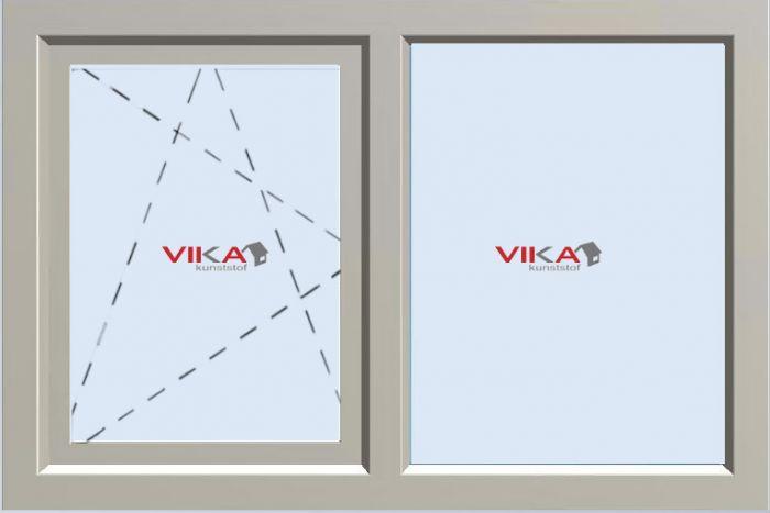 'Draai / Kiep - Vast raam' kunststof kozijn