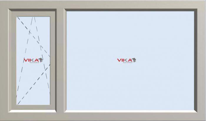 'Draai / Kiep 1/3 - Vast 2/3 raam' kunststof kozijn