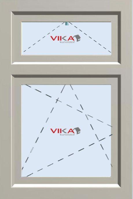 'Draai / Kiep raam met Bovenlicht (val)' kunststof kozijn