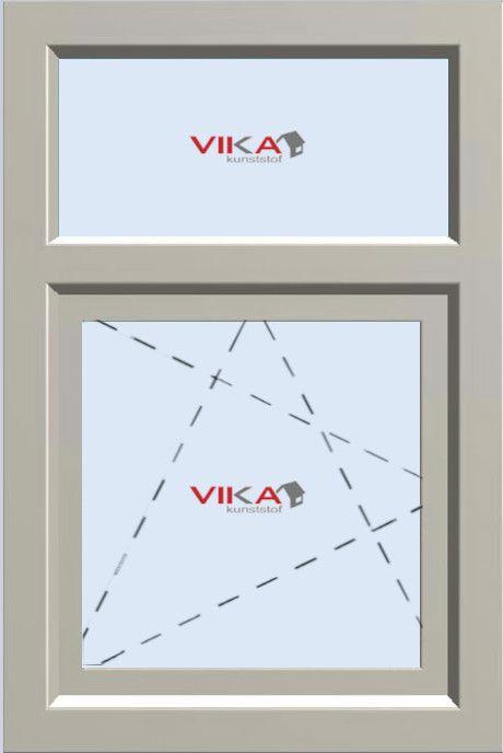'Draai / Kiep raam met Bovenlicht (vast)' kunststof kozijn