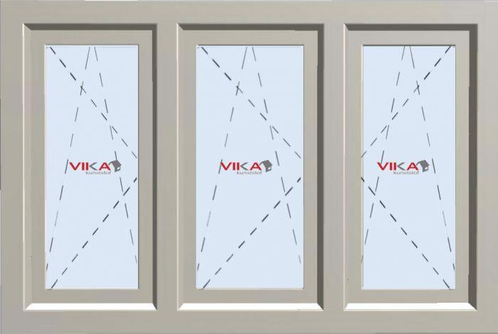 'Drie maal Draai / Kiep raam' kunststof kozijn