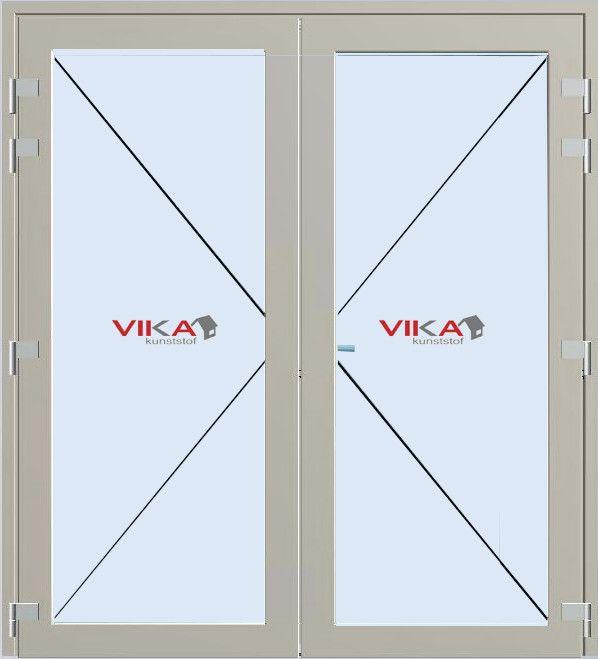 'Tuindeuren vol glas buitendraaiend' kunststof deur