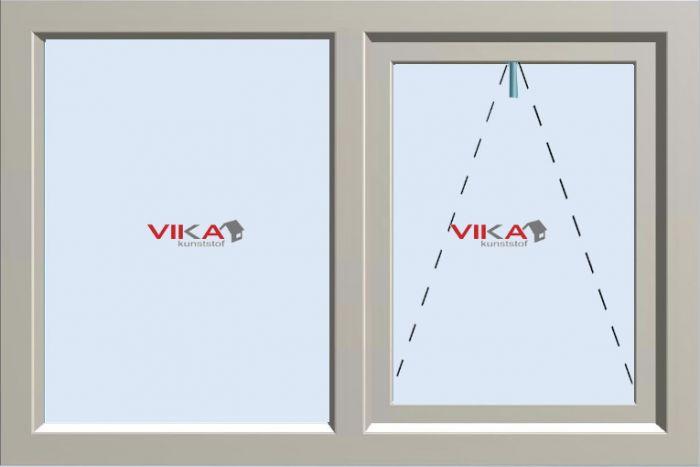 'Val - Vast raam' kunststof kozijn