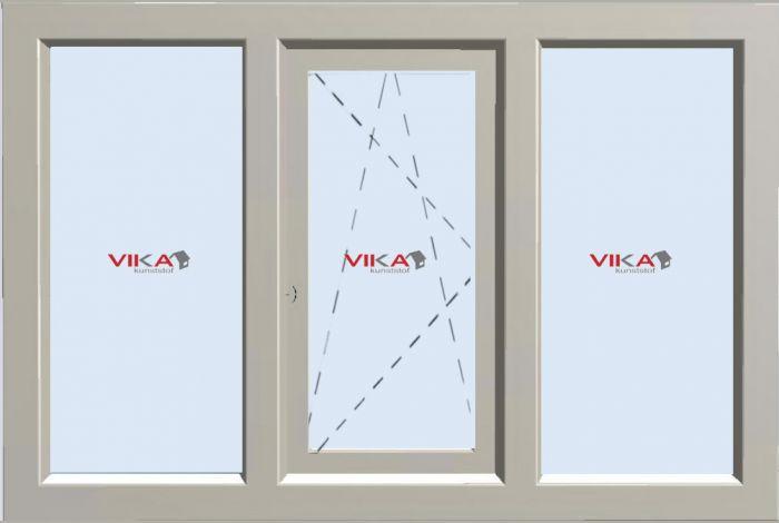 'Vast - Draai / Kiep - Vast raam' kunststof kozijn