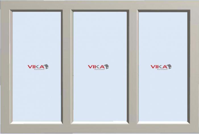 'Vast - Vast - Vast raam' kunststof kozijn