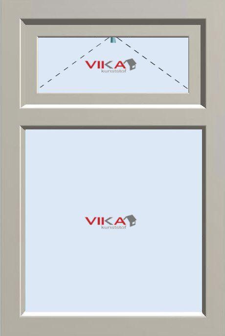 'Vast raam met Bovenlicht (val)' kunststof kozijn
