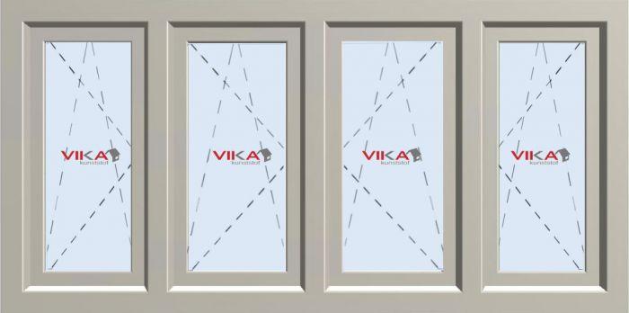 'Vier maal Draai / Kiep raam' kunststof kozijn