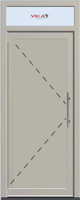 'Voordeur met bovenlicht en paneel' kunststof deur