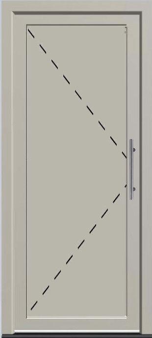 'Voordeur met paneel' kunststof deur