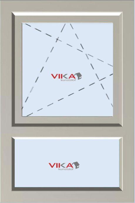 Draai / Kiep raam met Onderlicht (vast) kunststof kozijn