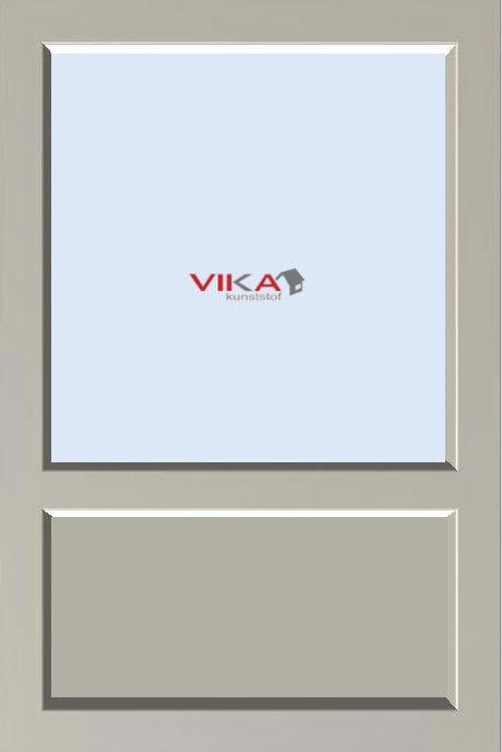 Vast raam met borstwering kunststof kozijn