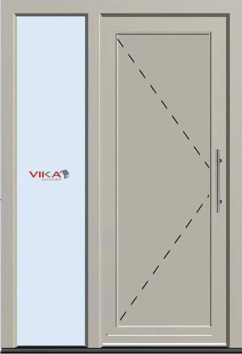 Voordeur met paneel kunststof deur met zijlicht
